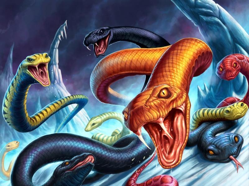 снится много змей